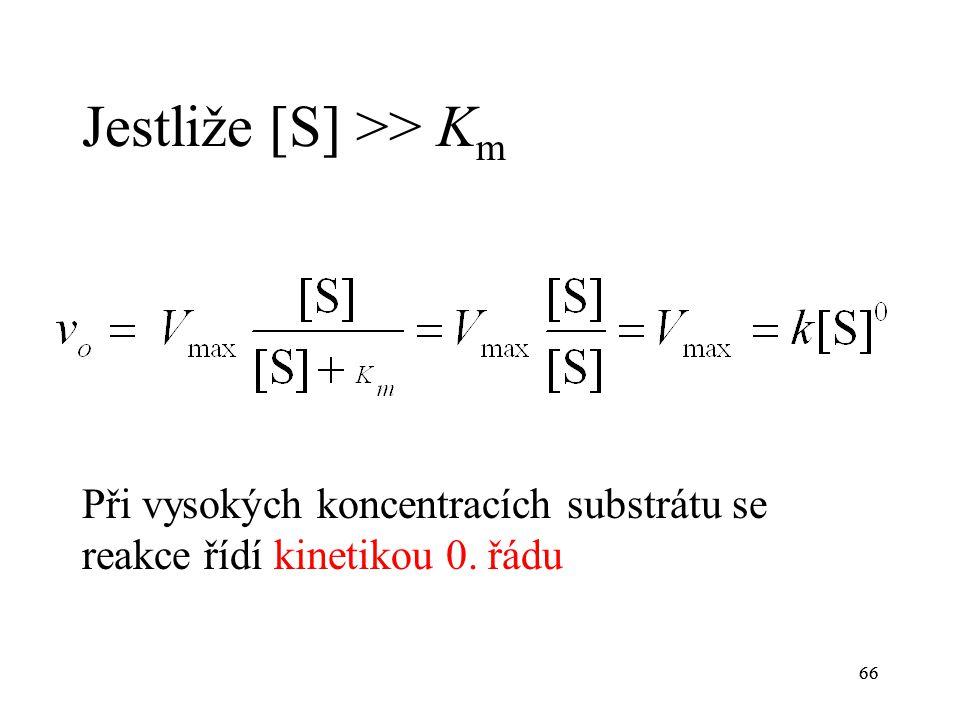 Jestliže [S] >> Km